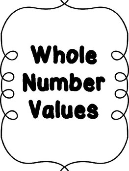 Mini Math Office - Whole Numbers
