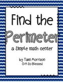 Mini Math Centers {measuring perimeter}