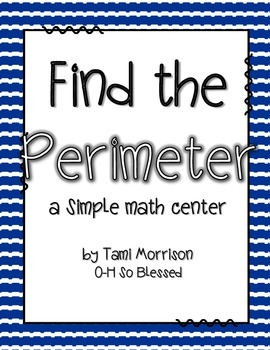 Mini Math Centers {measuring perimeter}