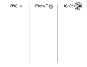 Mini Math Pizza Pack: Size Sort and 10 Frames {Freebie}