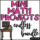 Monthly Math Enrichment Projects for the Entire Year BUNDLE!