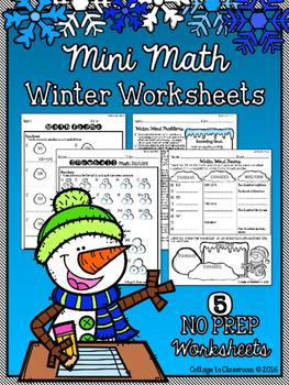 Mini Math Winter Worksheets