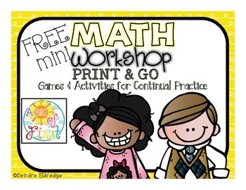 Mini Math Workshop {FREEBIE}