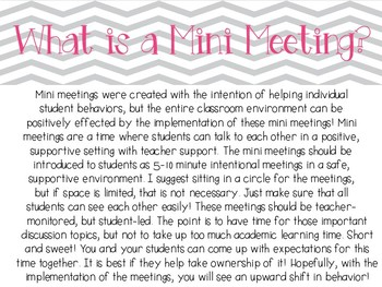 Mini Meeting Resources