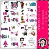 Mini Melonheadz paper dolls by Melonheadz