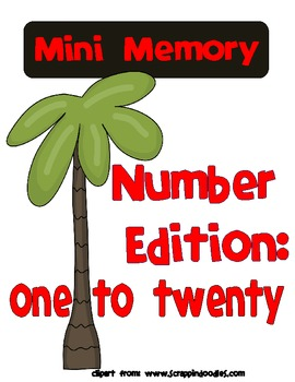 Mini Memory Number Edition: 1-20