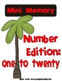 Mini Memory Number Edition: 1-20