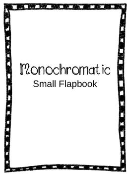 Mini Monochromatic Flapbook