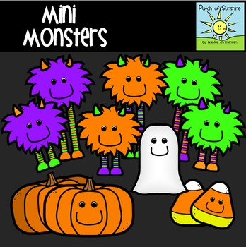 Mini Monsters Clip Art *Patch of Sunshine*