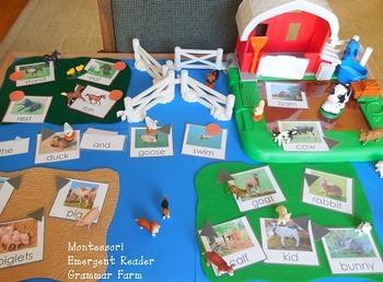 Mini Montessori Grammar Farm Cards