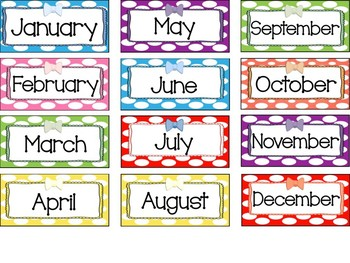 Mini Months Cards- Polka Dotted