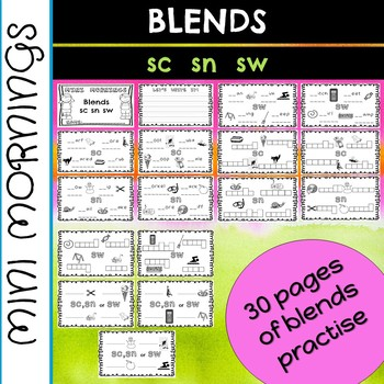 Mini Mornings Blends sc, sn and sw