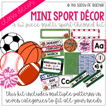 Mini-Multi Sport Classroom Decor Pack