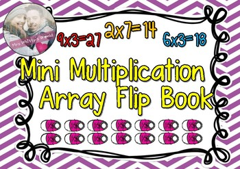 Mini Multiplication Array Flip Book