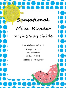 Mini Multiplication Study Guide B&W and Color