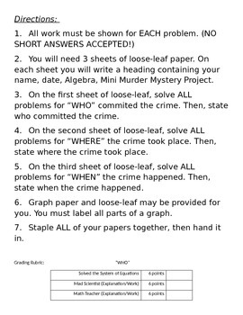 Mini Murder Mystery Project