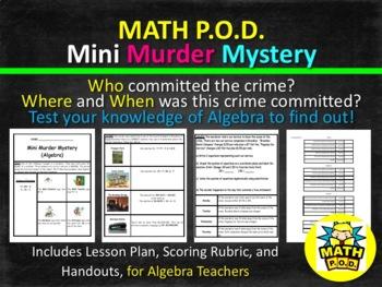 Mini Murder Mystery Project