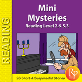 Mini Mysteries Stories & Reading Comprehension Activities: Follow the Clues...