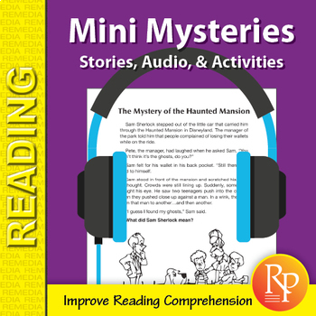 Mini Mysteries: 26 Stories, Read-Along Audio, & Comprehension Activities