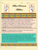 Mini Native American Folklore Genre Study Bundle