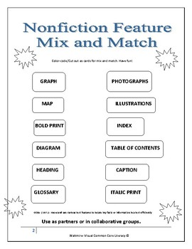 Mini Nonfiction Text Feature Booklet   High 1st, 2nd and 3rd Grade