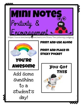Mini Notes: Positivity and Encouragement for Students