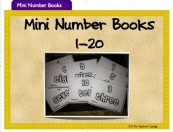 Mini Number Books