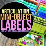 Articulation Mini-Object Labels