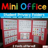 Mini Office, Personal Word Wall. Back to School