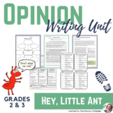 """Hey, Little Ant!"" Opinion Writing Unit for 2nd and 3rd Graders"