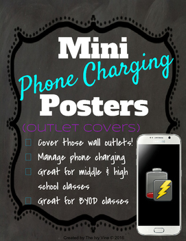 Mini Phone Charging Posters  - Outlet Covers and Signs - Memes & Emojis