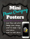 Mini Phone Charging Posters  - Outlet Covers and Signs - M
