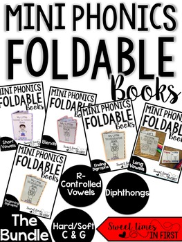Mini Phonics Foldable Books BUNDLE