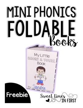 Mini Phonics Foldable Books FREEBIE