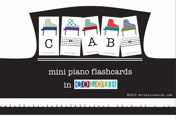 Mini Piano Flashcards