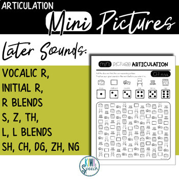 Articulation Mini Pictures - Later Sounds (NO-PREP)