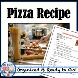 Mini Pizza Recipe- Hands-on Activity!  Teamwork