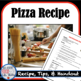 Mini Pizza Recipe- Hands-on Activity!  Digital and Print Resource