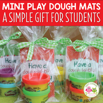 Little Christmas Gift Ideas.Mini Play Dough Mats A Simple Christmas Gift For Students