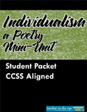 Mini Poetry Unit on Individualism -- An Intro for MS Students