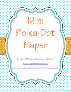 Polka Dot Paper {Mini}