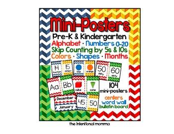 Mini-Poster Mega Pack for Pre-K and Kindergarten