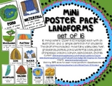 Mini Poster Pack with Definitions: LANDFORMS (Set of 16) Social Studies