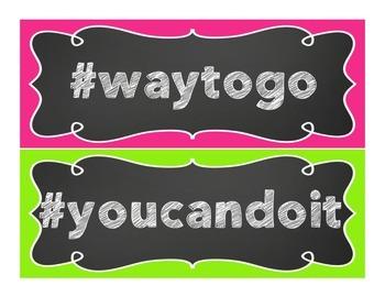 Mini Poster Set: Hashtags