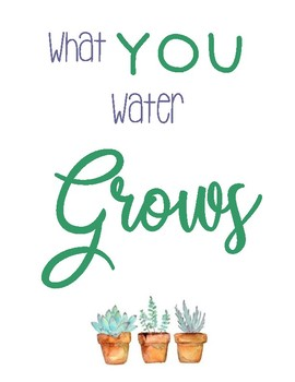 Mini Poster: What you water GROWS