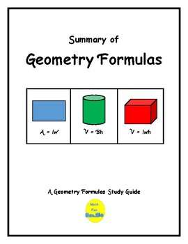 Mini-Posters: Geometry Formulas