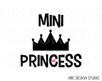Mini Princess SVG Cutting File - Commercial Use SVG, DXF, EPS, png