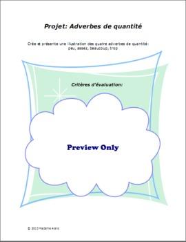 Mini-Projet: Adverbes de Quantité