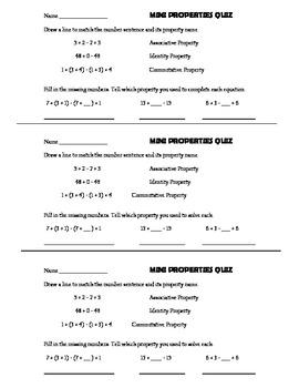 Mini Properties Quiz by JennyG