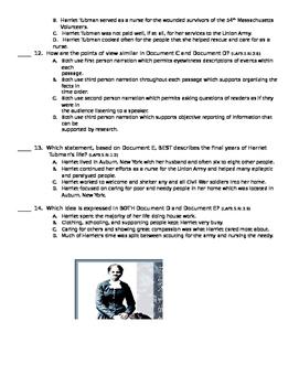 Mini Q - DBQ Harriet Tubman Quiz
